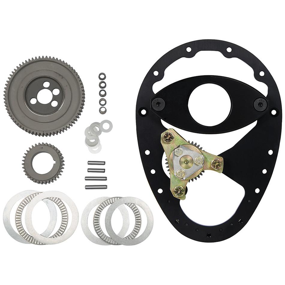 Allstar Performance 90100 Timing Gear Drive, 3 Gear Drive, Raised Cam Gear, Aluminum Plate / Steel Gears, Small Block Chevy, Kit