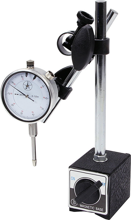 Allstar Performance 96414 Dial Indicator Kit, 1 in Travel, 0.001 Increments, Magnetic Base, Kit