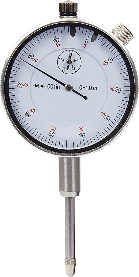 Allstar Performance 96415 Dial Indicator, 1 in Travel, 0.001 in Increments, Each