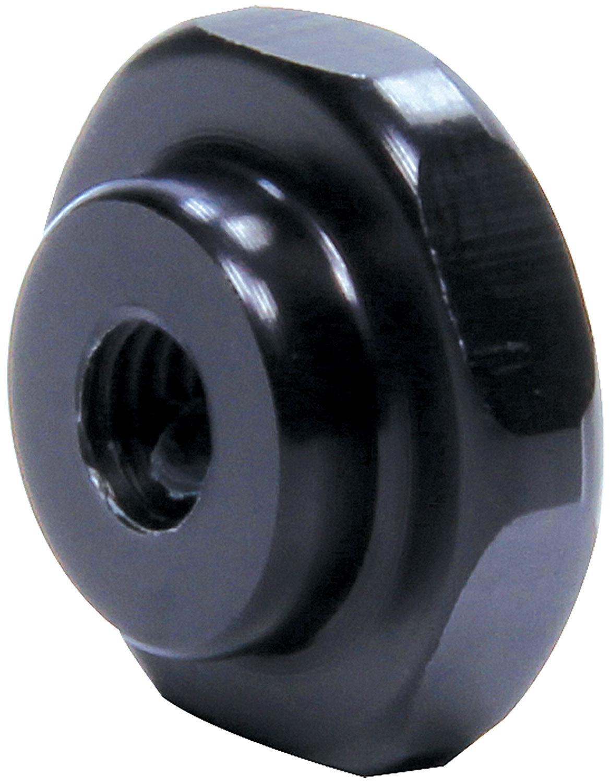 Allstar Performance 99384 Nut, 1/4-28 Thread, Aluminum, Black Anodize, Allstar Throttle Linkage, Each