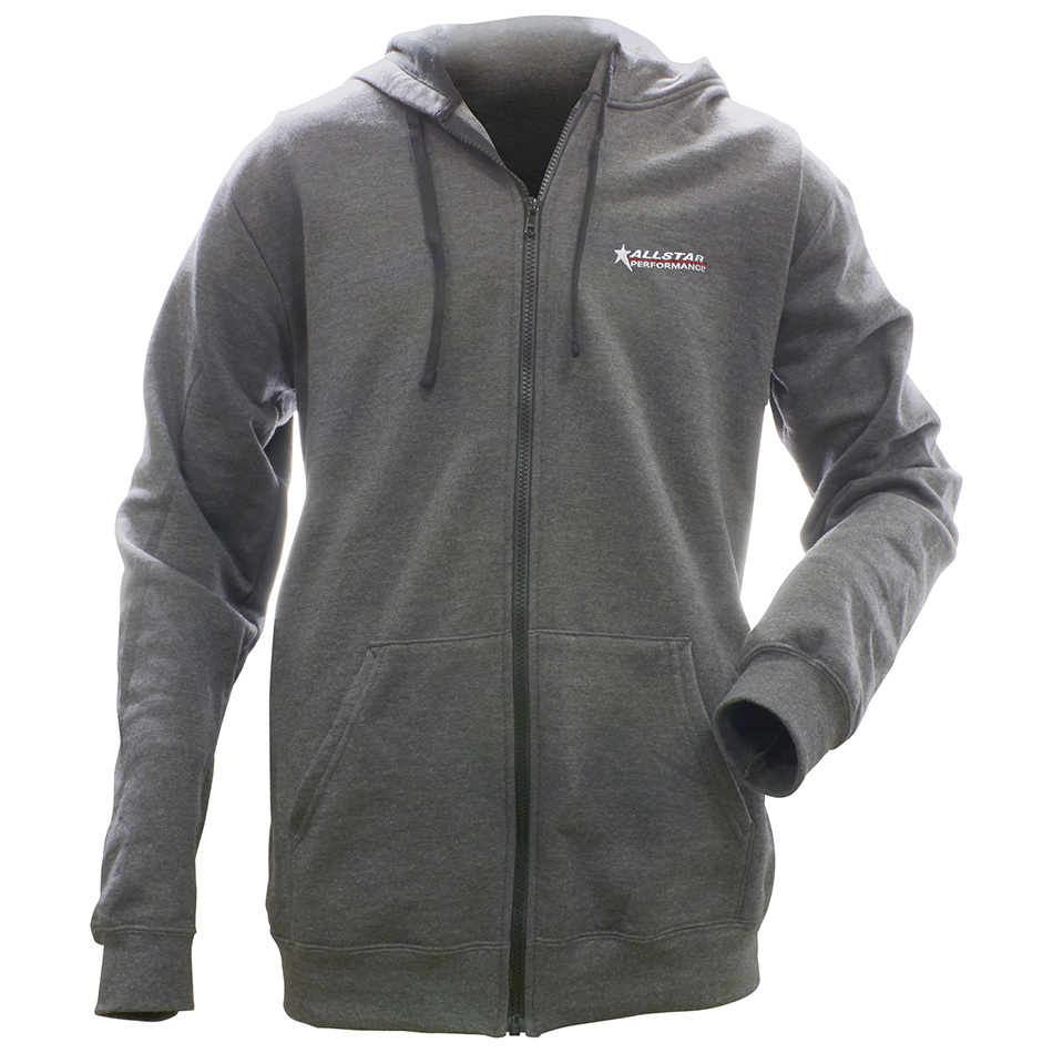 Allstar Performance  Full Zip Hooded Sweatshirt Charcoal S