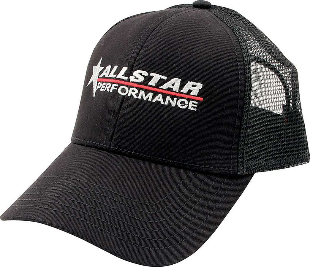 Allstar Performance  Hat Black Mesh Back Velcro Closure