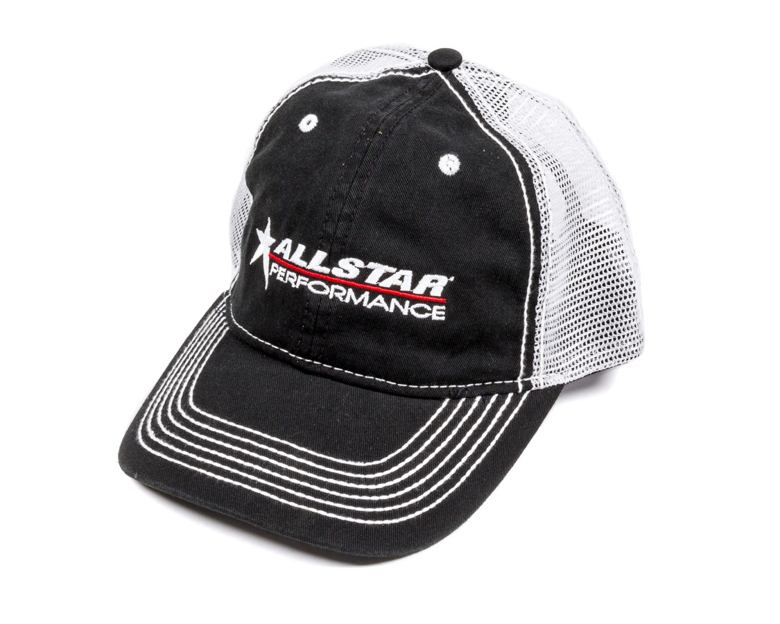 Allstar Performance  Hat Black with White Mesh Velcro Closur