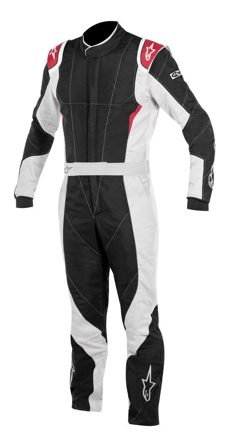 Alpinestars USA 3352116-1103-60 Suit, GP Pro, Driving, 1 Piece, SFI 3.2A/5, FIA Approved, Triple Layer, Fire Retardant Fabric, Black / Red, Size 60, X-Large, Each