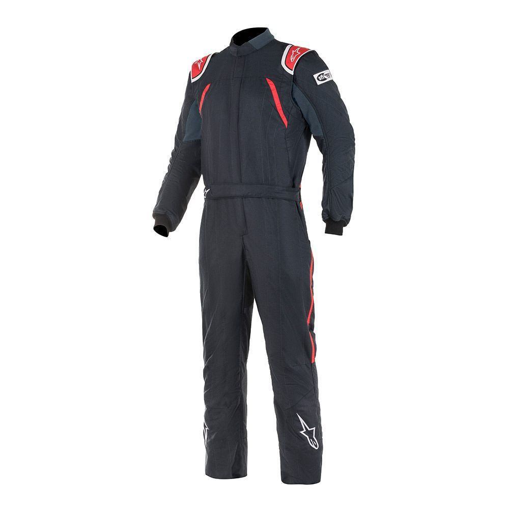 Alpinestars USA 3352119-13-56 Suit, GP Pro, Driving, 1 Piece, SFI 3.3A/5, FIA Approved, Triple Layer, Fire Retardant Fabric, Black / Red, Size 56, Large, Each