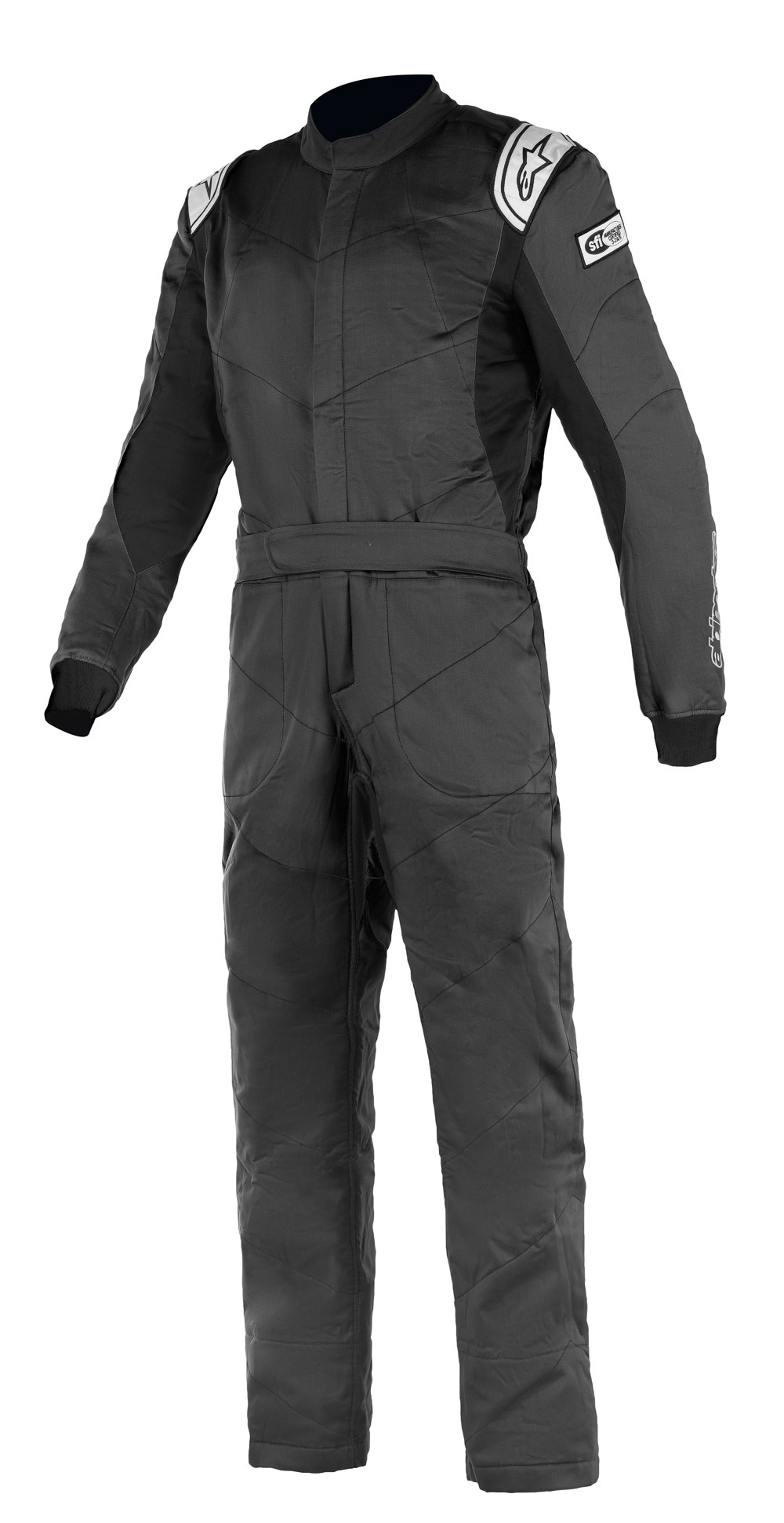 Alpinestars USA 3355921-12-62 Suit, Knoxville V2, Driving, 1 Piece, SFI 3.2A/5, Boot-Cut, Triple Layer, Fire Retardant Fabric, Black, Size 62, X-Large / 2X-Large, Each