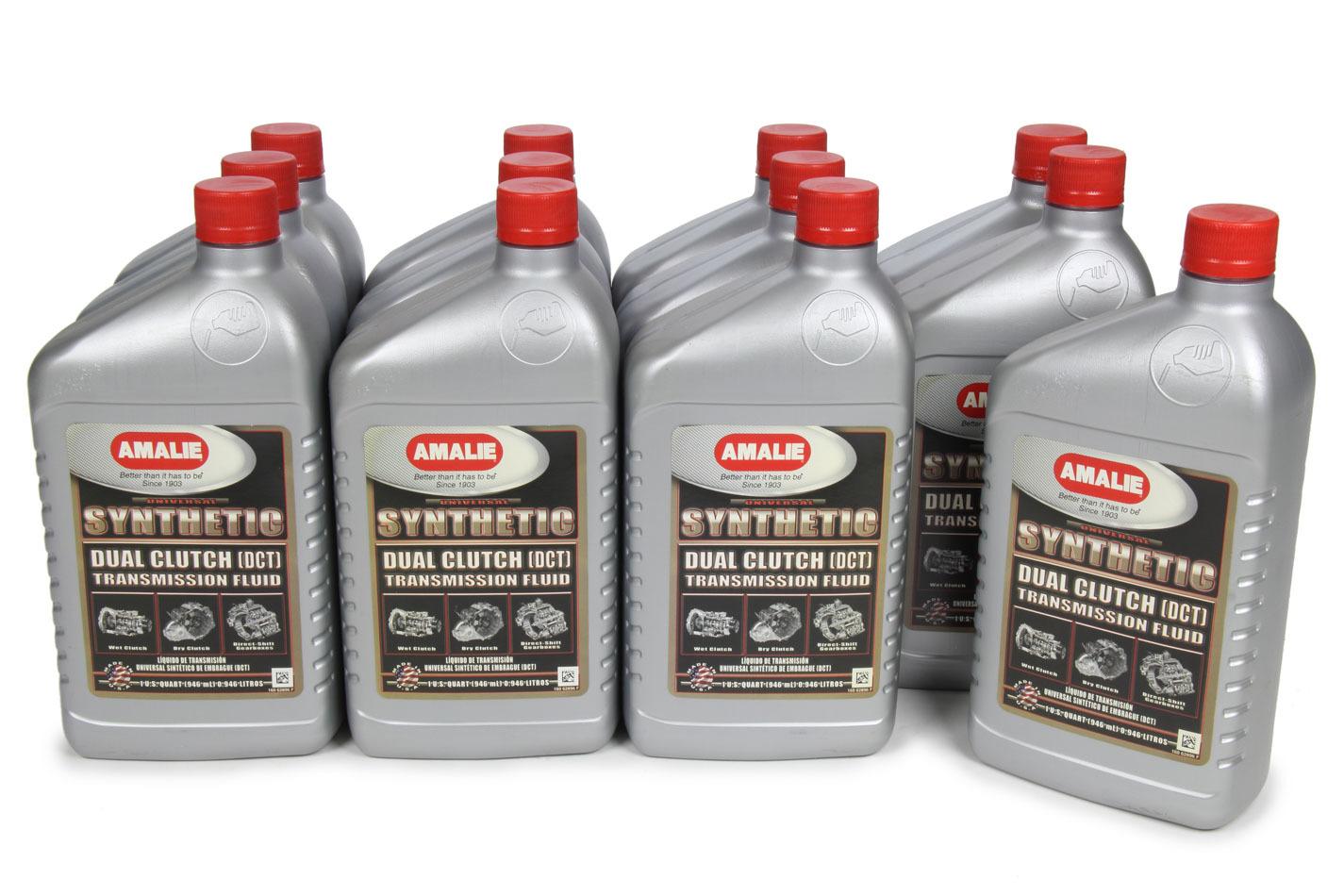 Amalie 160-62896-56 Transmission Fluid, DCT, Dual Clutch Transmissions, Synthetic, 1 qt Bottle, Set of 12