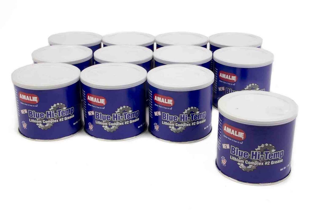 Amalie 160-68326-93 Grease, Blue Hi-Temp, Conventional, 1 lb Tub, Set of 12