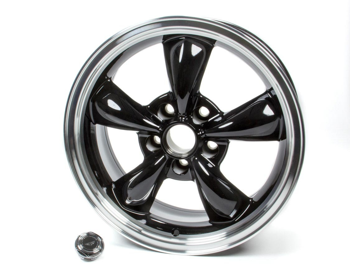 American Racing 17x7 Torq Thrust M Wheel Gloss Black Machined Lip