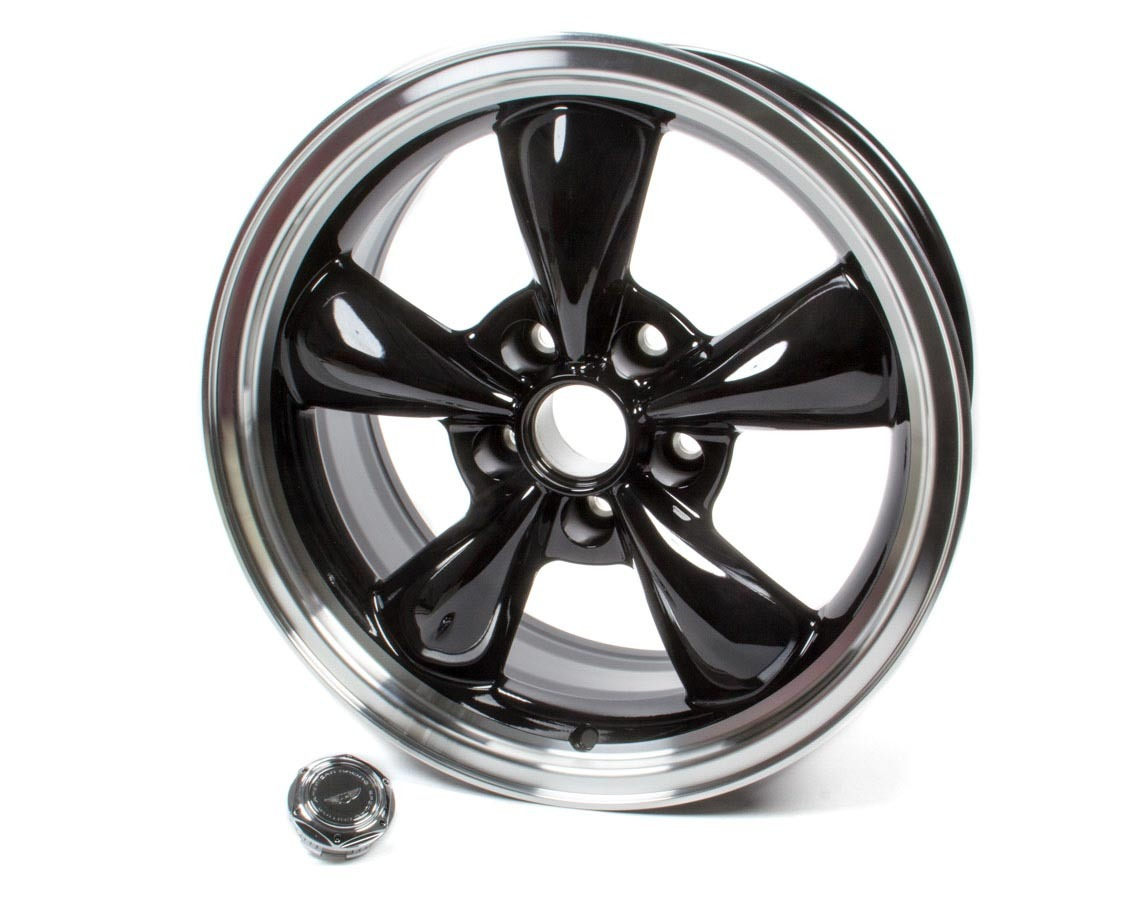 American Racing 17x8 Torq Thrust M Wheel Gloss Black Machined Lip