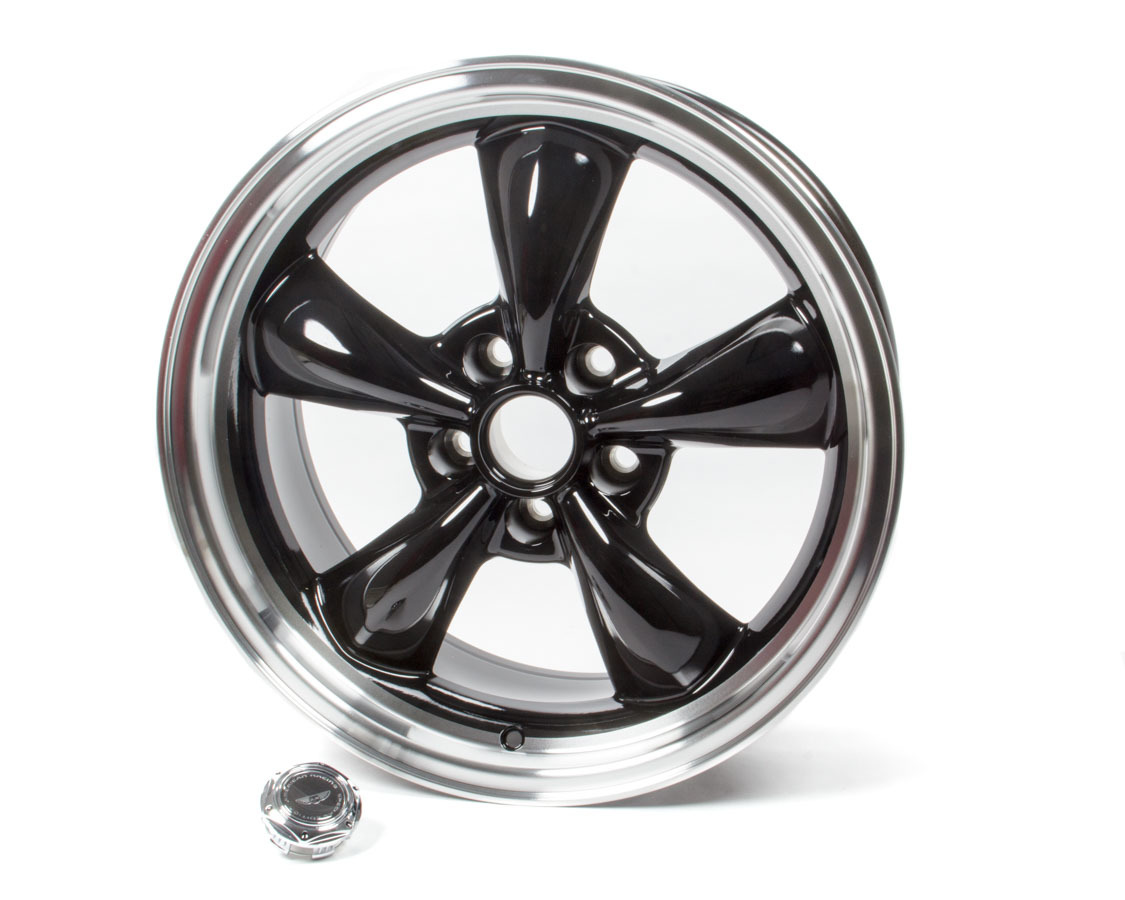 American Racing 18x8 Torq Thrust M Wheel Gloss Black Machined Lip
