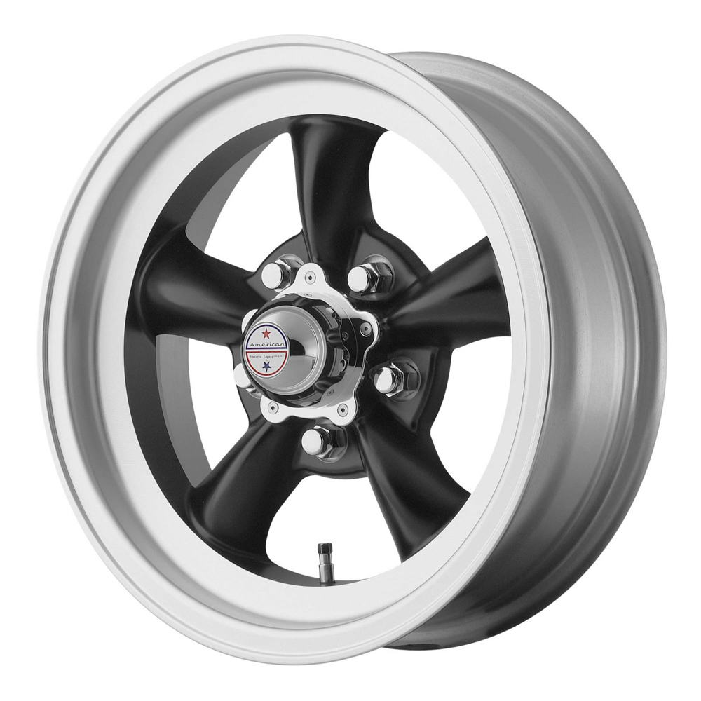 American Racing TORQ THRUST D 14x6 5x120 .65 SATIN  BLACK W/ MACH