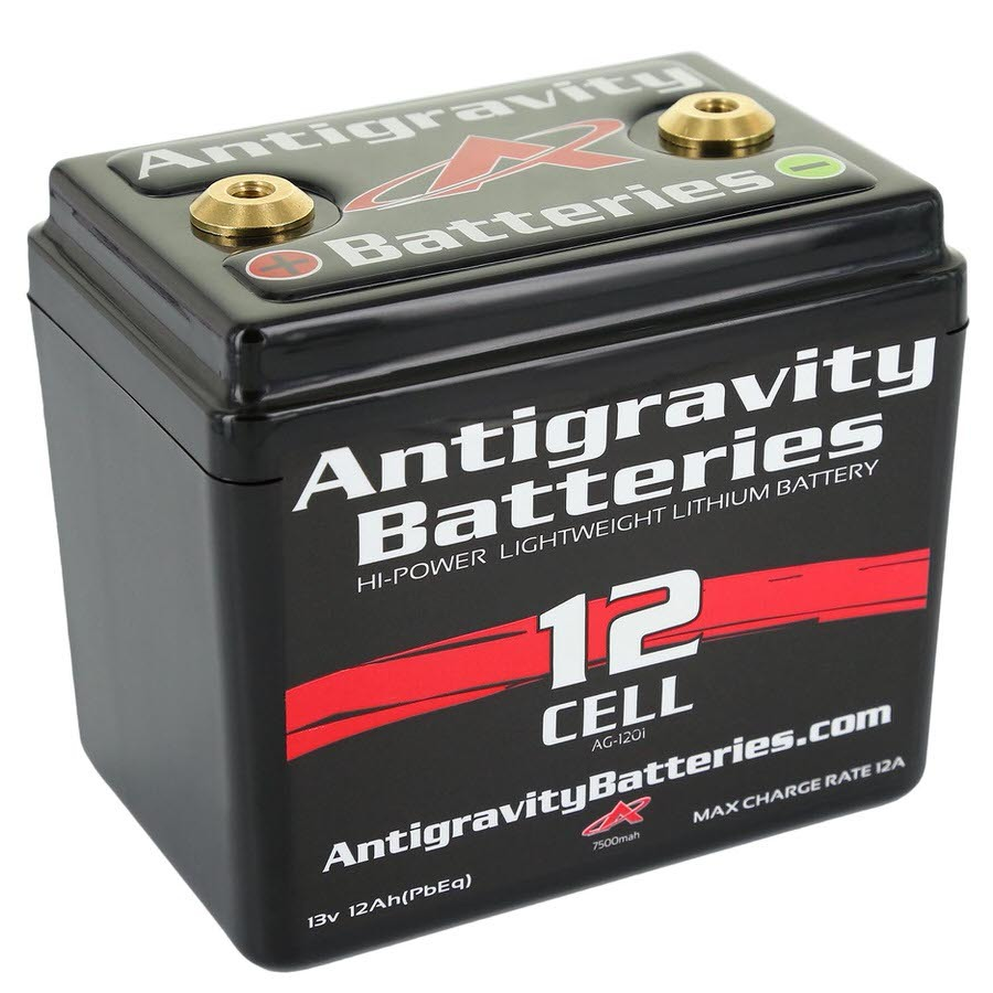 Antigravity Batteries AG-1201 Battery, 13V, 360 Cranking Amp, Threaded Terminals, Top Terminals, 4.50 in L x 4.25 in H x 3.25 in W, Each