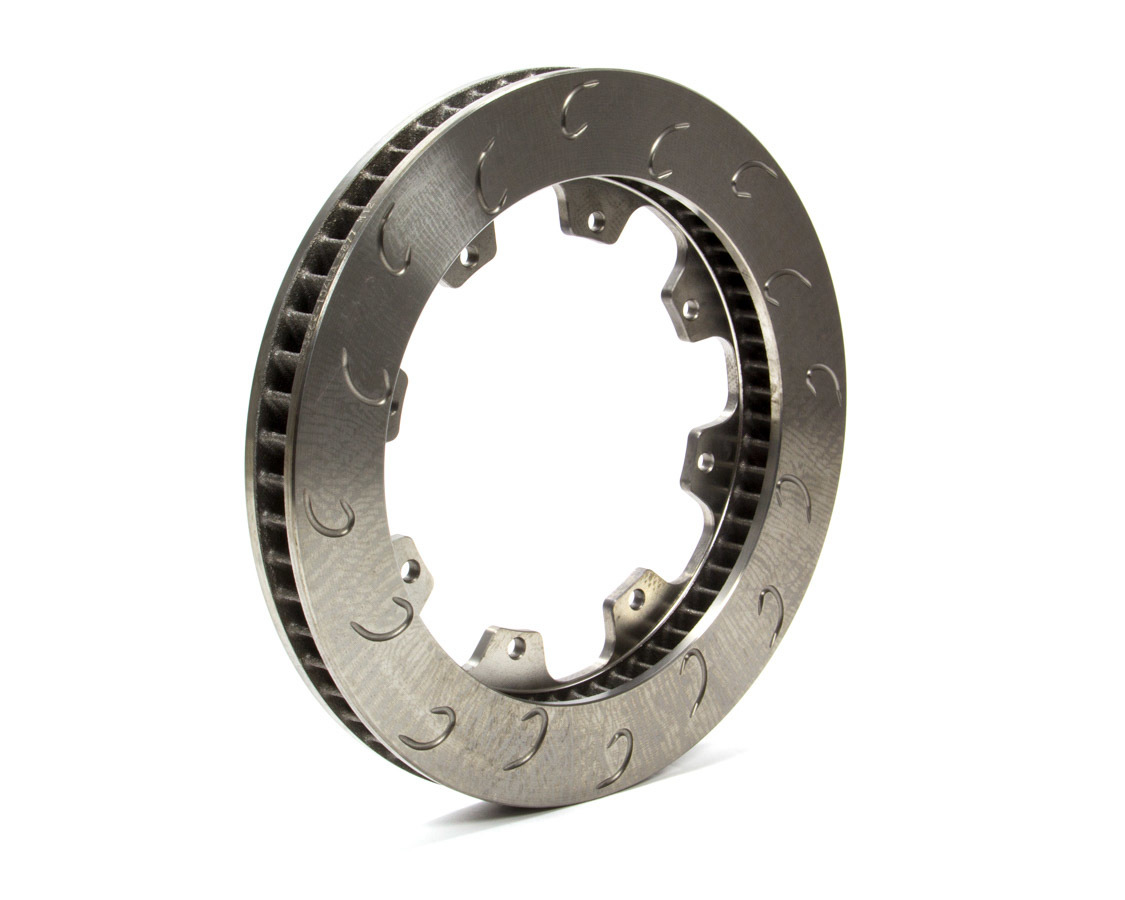 AP Brake 1901722 Brake Rotor, J-Hook, Passenger Side, Directional / J-Hook Slotted, 11.750 in OD, 1.250 in Thick, 8 x 7.000 in Bolt Pattern, Iron, Natural, Each
