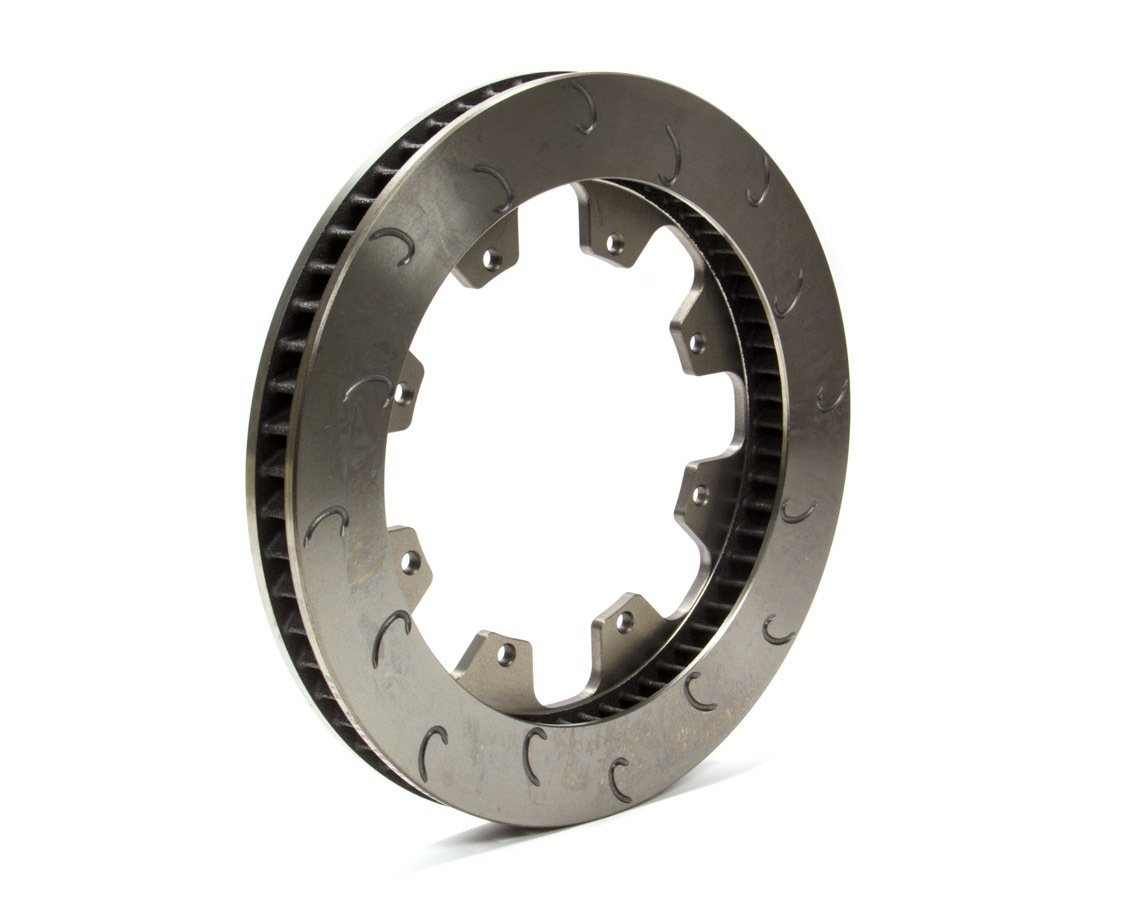 AP Brake 1901727 Brake Rotor, J-Hook, Driver Side, Directional / J-Hook Slotted, 12.190 in OD, 1.250 in Thick, 8 x 7.000 in Bolt Pattern, Iron, Natural, Each