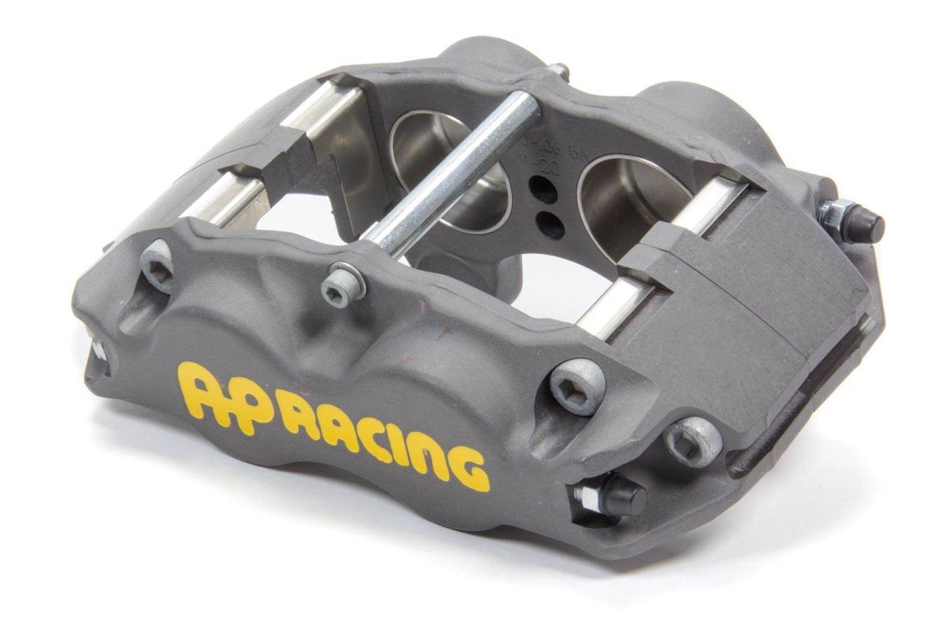 AP Brake 1902800 Brake Caliper, Passenger Side, Front, 4 Piston, Aluminum, Clear Anodize, 11.750 to 12.2 in OD x 1.250 in Thick Rotor, 3.500 in Lug Mount, Each