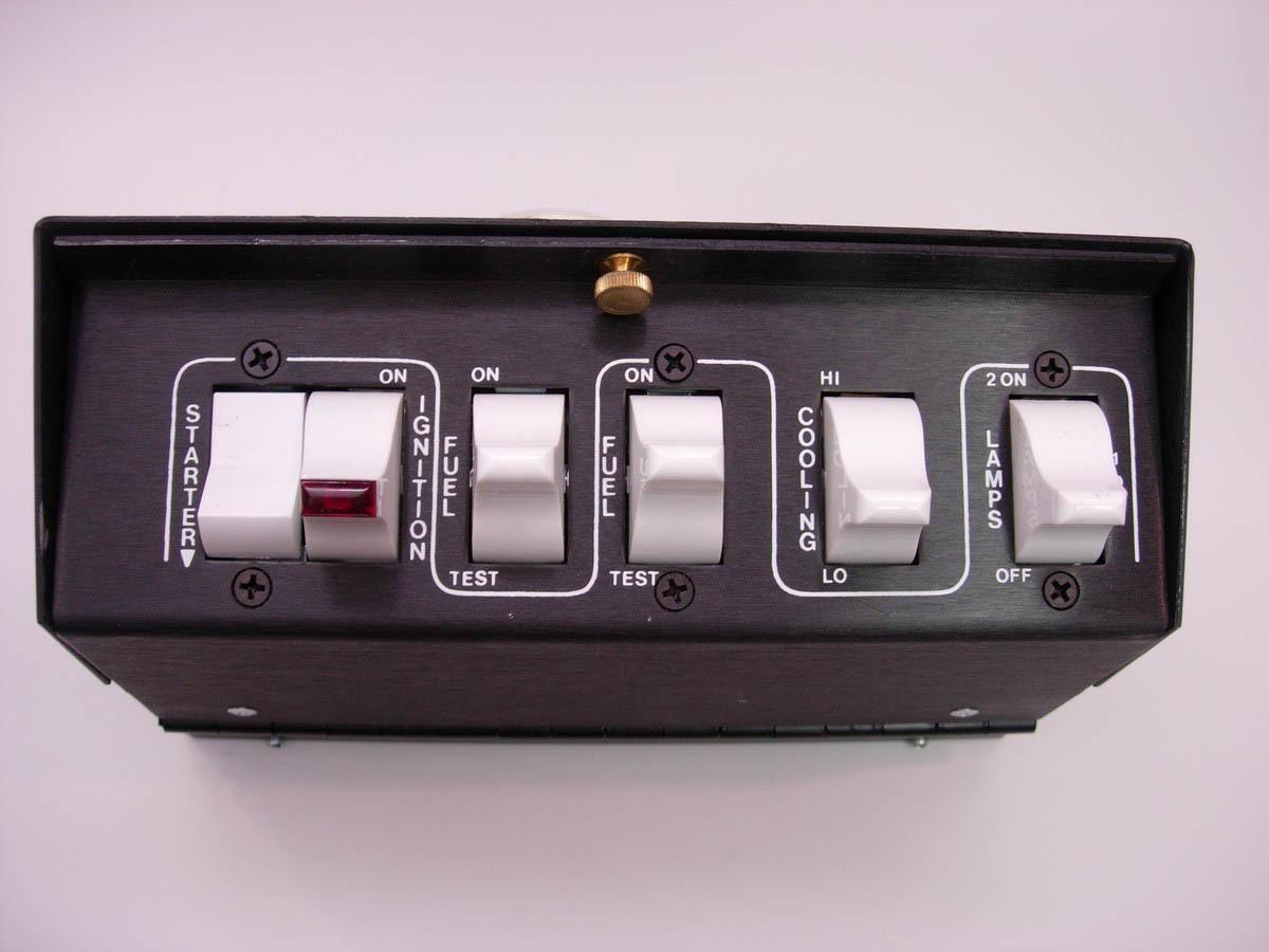 Auto Rod Controls 3700 Switch Panel, Pro Street, Overhead Mount, 8 x 2-5/8 x 3-1/3 in, 1 Momentary Rocker / 2 Rockers / 3 3-Way Position Rockers, Fused, Black, Each