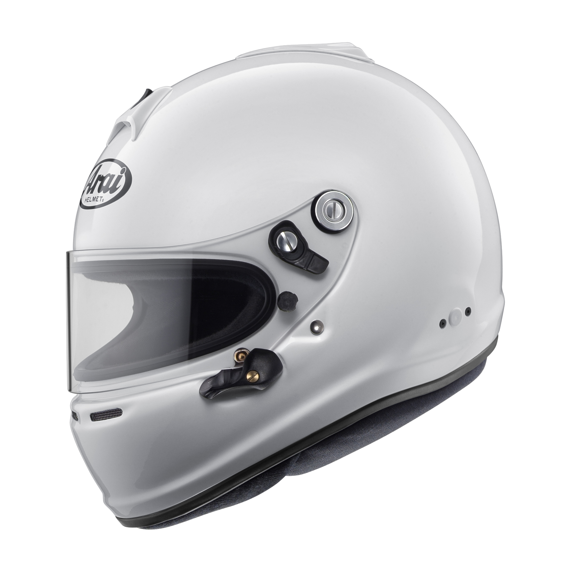 Arai Helmet 685311143440 Helmet, GP-6S, Snell SA2015, FIA Approved, Head and Neck Support Ready, White, Small, Each