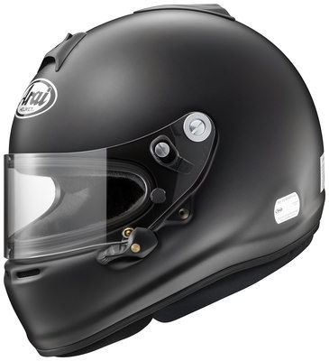 Arai Helmet 685311143518 Helmet, GP-6S, Snell SA2015, FIA Approved, Head and Neck Support Ready, Black, Large, Each