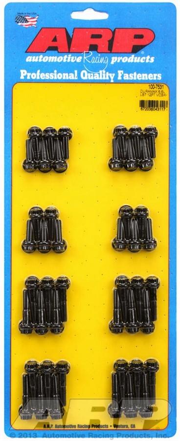 ARP 100-7531 Valve Cover Fastener, Bolt, 1/4-20 in Thread, 12 Point Head, Chromoly, Black Oxide, LB7, 6.6 L, GM Duramax, Kit