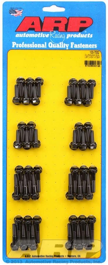 ARP 100-7532 Valve Cover Fastener, Bolt, 1/4-20 in Thread, Hex Head, Chromoly, Black Oxide, LB7, 6.6 L, GM Duramax, Kit