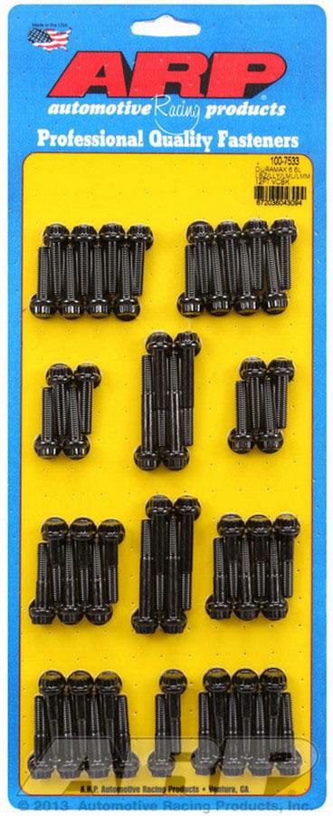 ARP 100-7533 Valve Cover Fastener, Bolt, 1/4-20 in Thread, 12 Point Head, Chromoly, Black Oxide, 6.6 L, GM Duramax, Kit