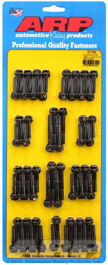 ARP 100-7534 Valve Cover Fastener, Bolt, 1/4-20 in Thread, Hex Head, Chromoly, Black Oxide, 6.6 L, GM Duramax, Kit