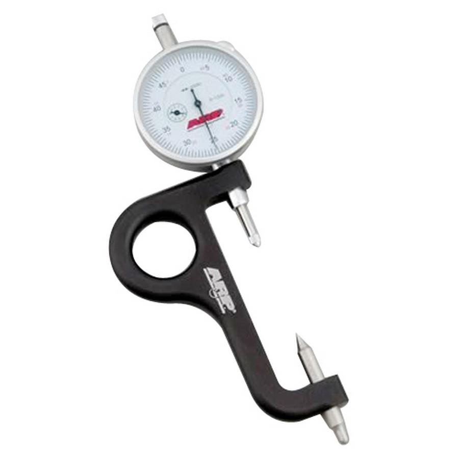 ARP 100-9942 Rod Bolt Stretch Gauge, Adjustable Length, Dial Indicator, 0.0005 in Increments, Billet Aluminum Body, Each