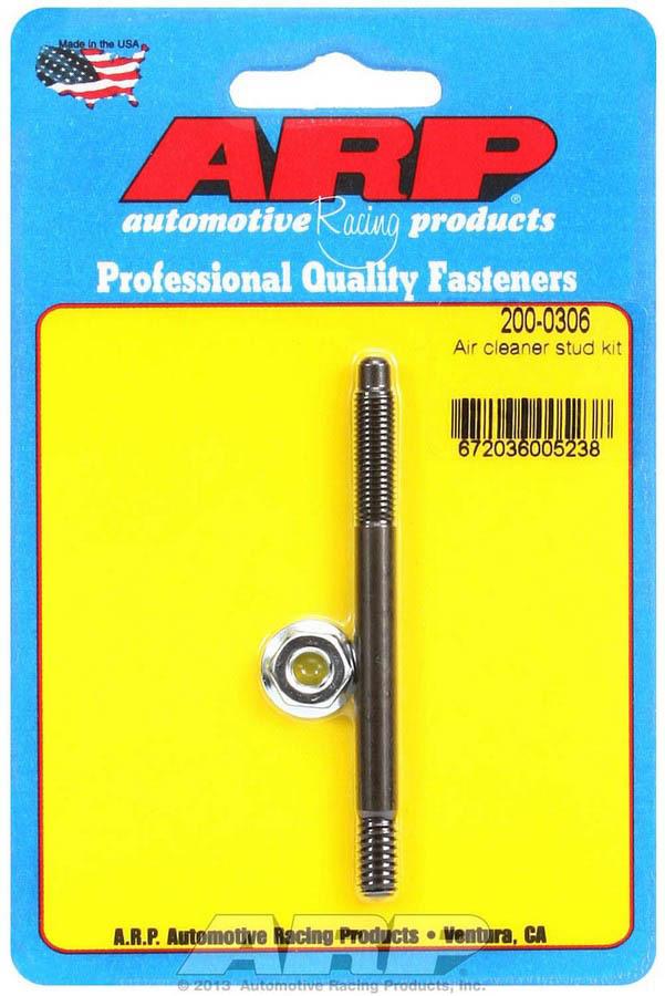 ARP 200-0306 Air Cleaner Stud, 1/4-20 in Thread, 3.200 in Long, Chromoly, Black Oxide, Each