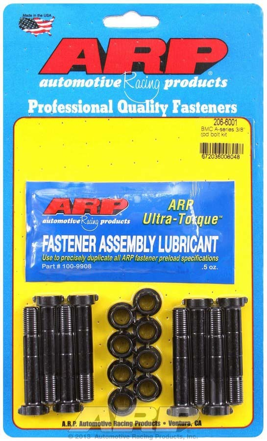 ARP 206-6001 Connecting Rod Bolt Kit, High Performance Series, 3/8 in Bolt, Chromoly, Various Applications, Kit