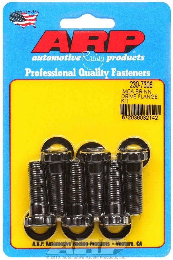 ARP 230-7306 Torque Converter Bolt Kit, Pro Series, 7/16-20 in Thread, 1.250 in Long, 12 Point Head, Chromoly, Black Oxide, Bert Drive Flange, Set of 6
