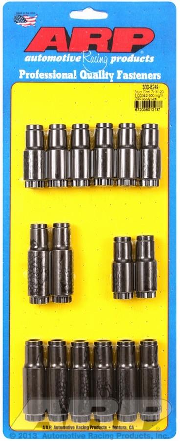 ARP 300-8249 Rocker Arm Nut, 7/16-20 in Thread, 0.560 in Shank Diameter, 2.050 / 2.615 in Long, Chromoly, Black Oxide, Stud Girdle, Set of 16