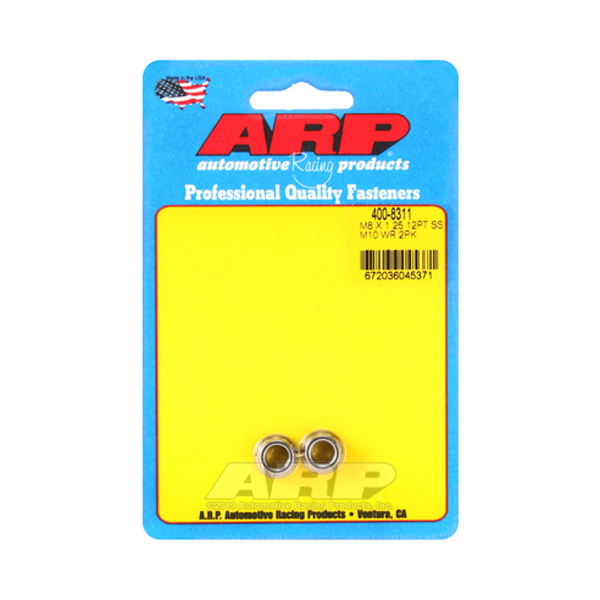 ARP 400-8311 Nut, 8mm x 1.25 Thread, 12 Point Head, Stainless, Polished, Pair