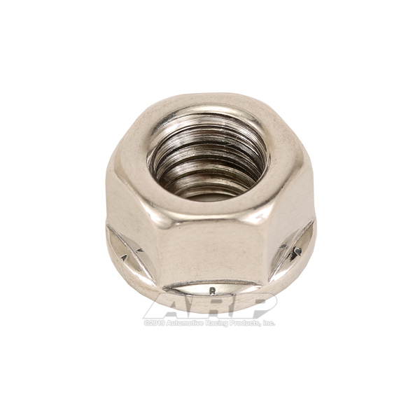 ARP 400-8704 Nut, 3/8-16 in Thread, 9/16 in Hex Head, Stainless, Polished, Universal, Each