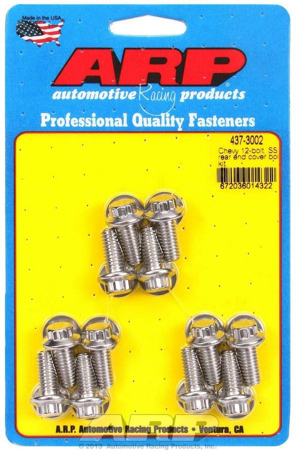 ARP 437-3002 Differential Cover Bolt Kit, 5/16-18 in thread, 0.750 in Long, 12 Point Head, Stainless, Polished, GM 12-Bolt, Kit