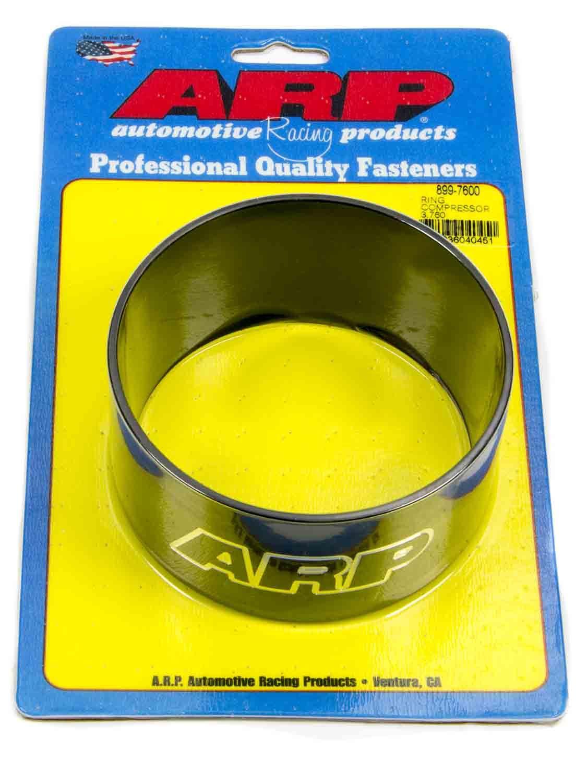 ARP 899-7600 Piston Ring Compressor, 3.760 in Bore, Tapered, Billet Aluminum, Black Anodized, Each
