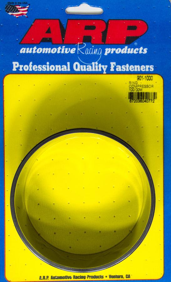 ARP 901-1000 Piston Ring Compressor, 100.00 mm Bore, Tapered, Billet Aluminum, Black Anodized, Each