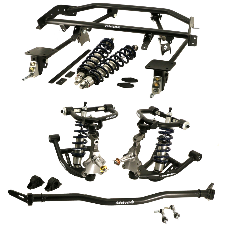 Ridetech 11160201 Suspension Coil-Over Kit, 4-Link / Control Arms / Spindles / Springs / Shocks / Sway Bar / Bushings / Hardware, GM F-Body 1967-69, Kit