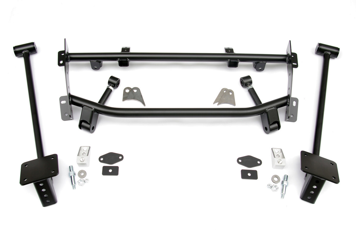 Ridetech 11167199 Four Link Kit, Bolt-On, Brackets / Hardware Included, Steel, Black Powder Coat, Airbag Suspension, GM F-Body 1967-69, Kit