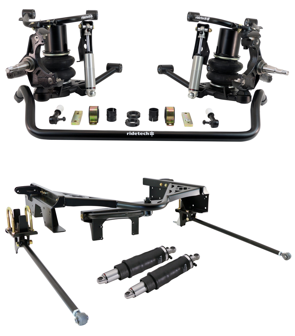 Ridetech 11370297 Air Suspension, Lifestyle, Air Spring / Brackets / Bushings / Control Arms / Hardware / Shocks / Spindles / Sway Bar / Wishbone System, GM Fullsize Truck 1988-98, Kit