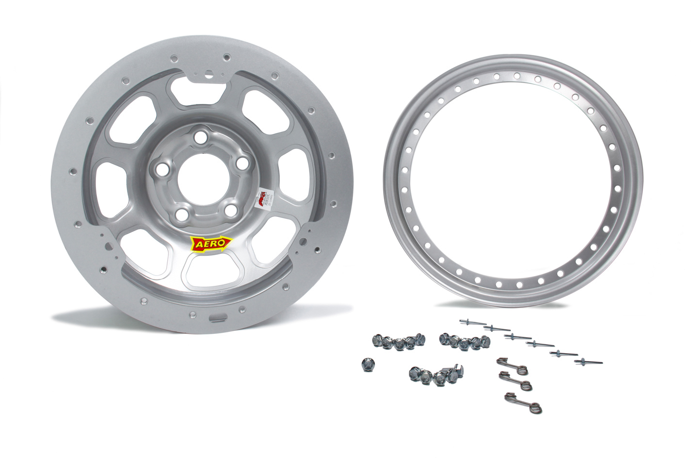 Aero Race 13x8 2in. 4.50 Silver Beadlock  Wheel