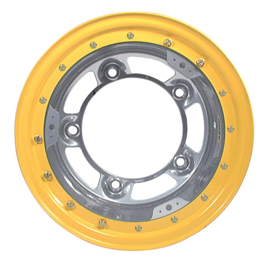 New Aero Race Wheels Wide 5 Silver Bead Lock 15x10 P//N 53-000550
