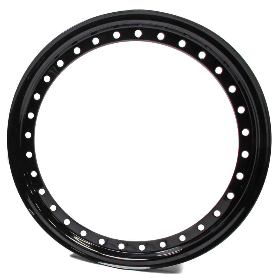 Aero Race 15in Outer Bead Lock Ring Black Wheel