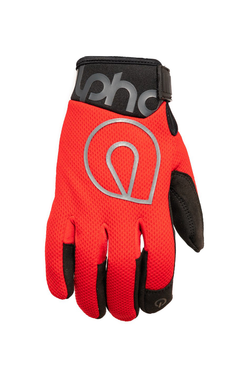 Alpha Gloves AG02-02-M Gloves, Shop, The Standard, Hook and Loop Closure, Neoprene Cuff, Mesh Top, Touch Screen Capable, Synthetic Leather Palm, Red, Medium, Pair