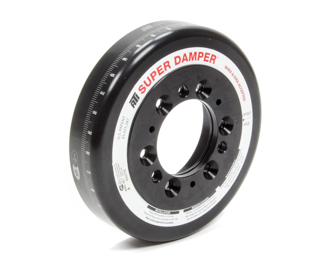 ATI Performance 917030 Harmonic Balancer Shell, 7.074 in OD, SFI 18.1, Aluminum, Black, ATI Super Damper, Internal Balance, Chevy Front, Each