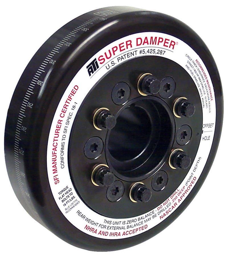 ATI Performance 917064 Harmonic Balancer, Super Damper, 7.074 in OD, SFI 18.1, Steel, Black, Internal Balance, Big Block Chevy, Each