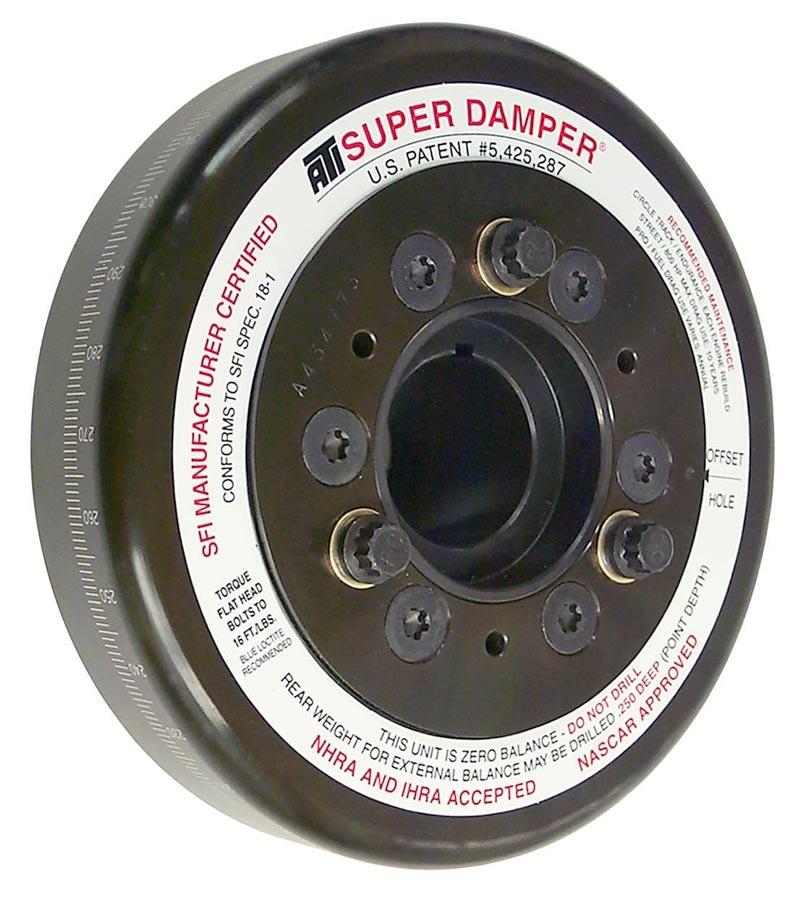 ATI Performance 917065 Harmonic Balancer, Super Damper, 7.074 in OD, SFI 18.1, Steel, Black, Internal Balance, Big Block Chevy, Each