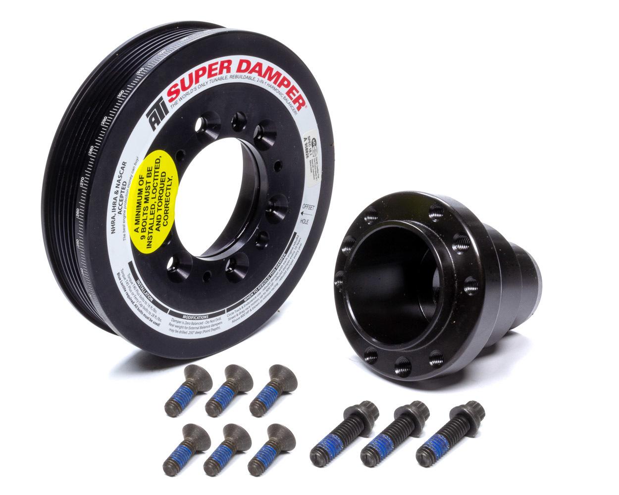 ATI Performance 918459 Harmonic Balancer Shell, Super Damper Standard, 6.780 in OD, SFI 18.1, Aluminum, Black, Internal Balance, Mopar Gen III Hemi, Each