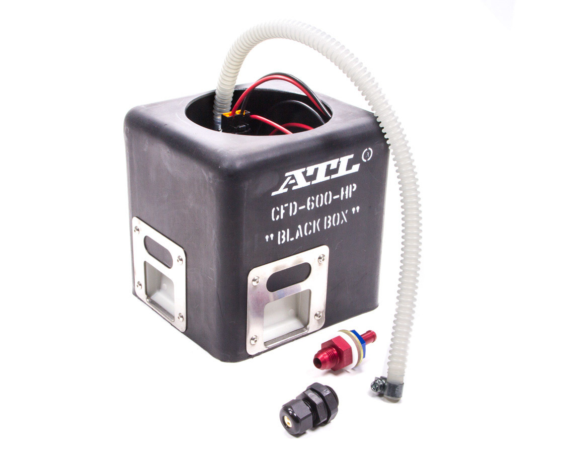 ATL Fuel Cells CFD-600-HP Fuel Pump, Black Box, Electric, Surge Tank, 102 lph at 100 psi, 5/16 in Male Barb Outlet, Gas, Kit