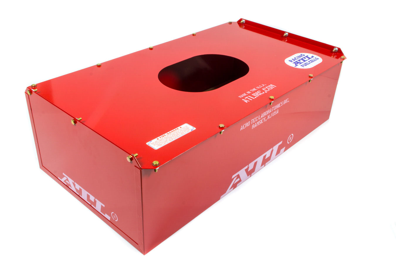 ATL Fuel Cells MC622C Fuel Cell Can, 22 gal, 34 x 17-1/2 x 9-1/2 in Tall, Steel, Red Powder Coat, Each